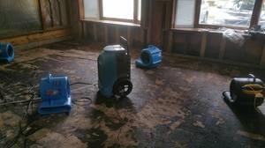 Water Damage Restoration In Progress