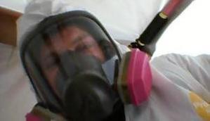 Technician On Mold Removal Job