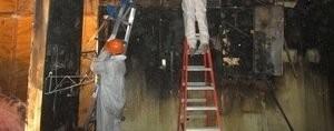 Fire Damage Restoration Job