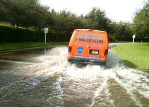 Water Damage and Flood Cleanup Van
