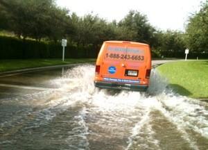 Water Damage and Flood Cleanup Van