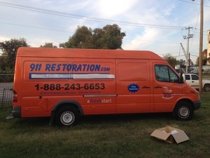 Water Damage Hunters Creek equipped van