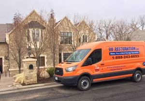 Water Damage and Mold Cleanup Response Vehicle